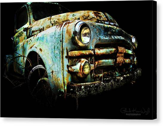 Canvas Print featuring the photograph Grandpa's Truck by Glenda Wright