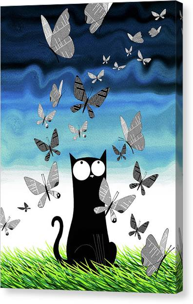 Social Canvas Print - Paper Butterflies  by Andrew Hitchen
