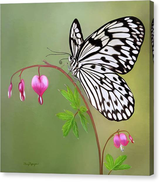 Paper Kite Butterfly Canvas Print by Thanh Thuy Nguyen