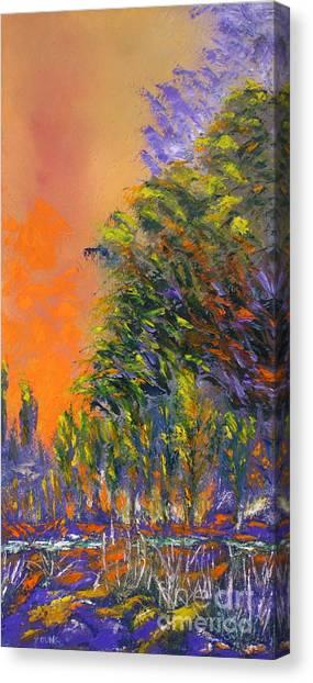 Paradise Aflame Canvas Print by Ellen Young