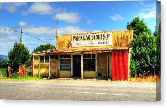 Parakoa Store New Zealand Canvas Print by Andrew Simmonds