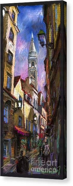 Pastel Canvas Print - Paris Montmartre  by Yuriy Shevchuk