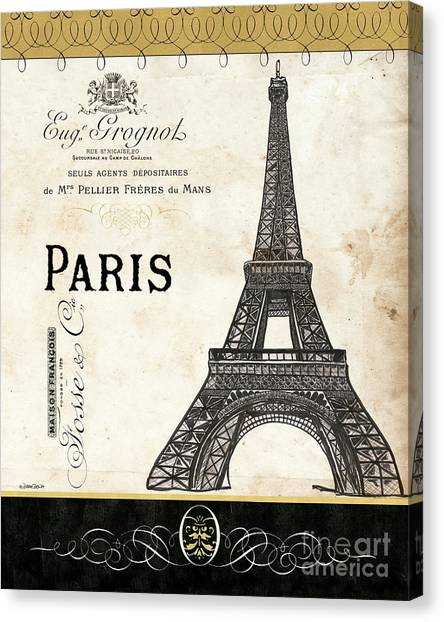 Old Age Canvas Print - Paris Ooh La La 1 by Debbie DeWitt