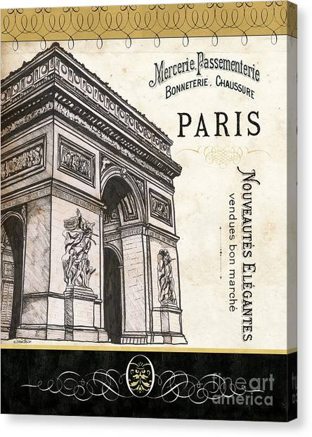 Old Age Canvas Print - Paris Ooh La La 2 by Debbie DeWitt