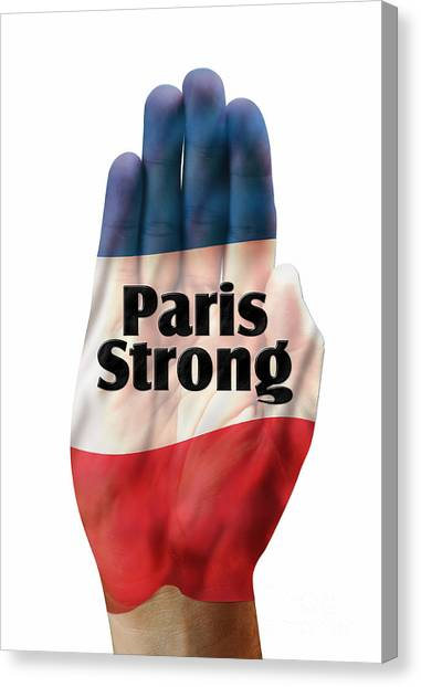 Extremism Canvas Print - Paris Strong by W Scott McGill