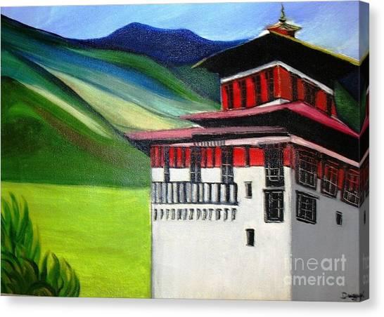 Paro Dzong Canvas Print by Duygu Kivanc