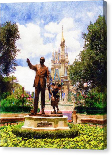 Disney Canvas Print - Partners by Sandy MacGowan