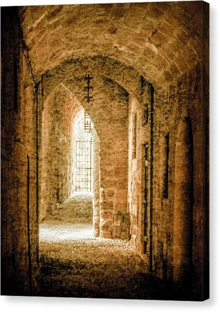 Canvas Print featuring the photograph Rhodes, Greece - Passage by Mark Forte