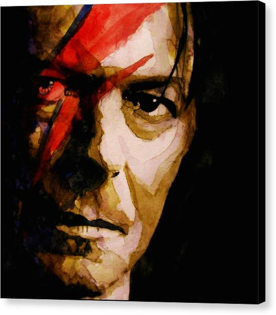 David Bowie Canvas Print - Past And Present  by Paul Lovering