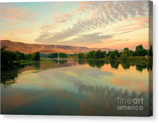 Prosser Canvas Print - Pastel Reflections by Mike Dawson