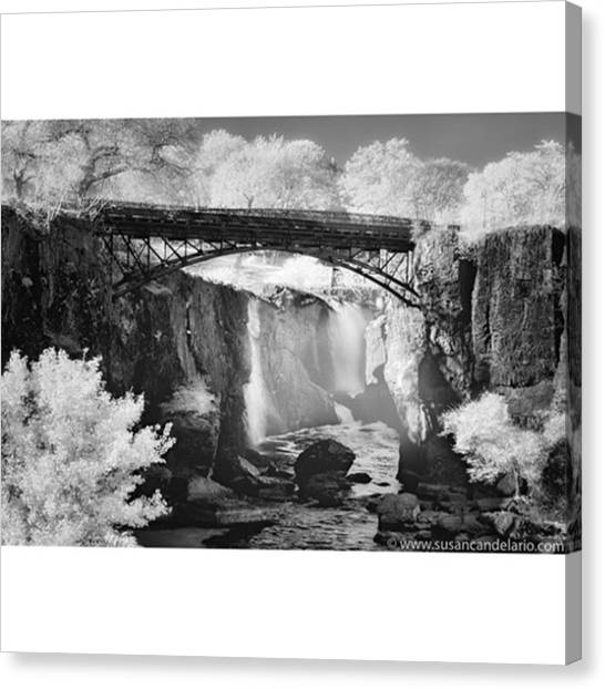 Waterfalls Canvas Print - Paterson Great Falls by Susan Candelario