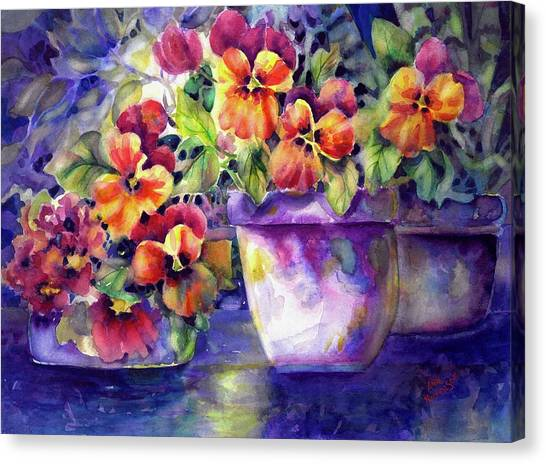 Patio Pansies Canvas Print