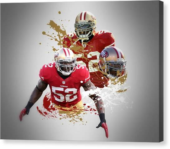 San Francisco 49ers Canvas Print - Patrick Willis 49ers by Joe Hamilton