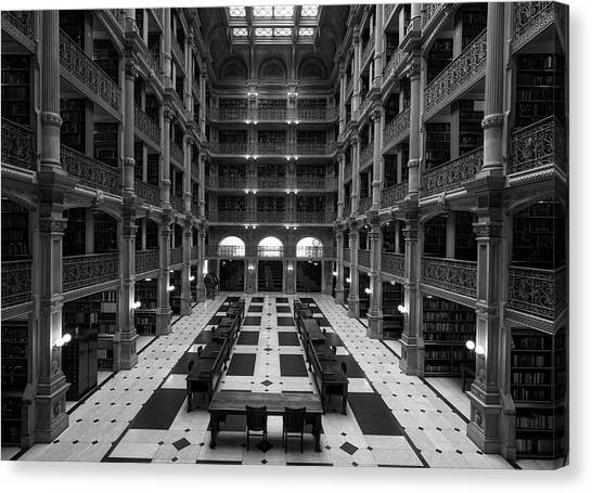 Johns Hopkins University Canvas Print - Peabody Library - Johns Hopkins University by Mountain Dreams