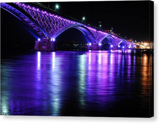 Peace Bridge Supporting Breast Cancer Awareness Canvas Print