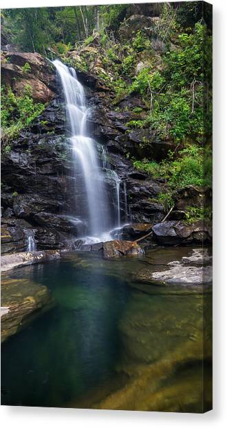 Underwater Caves Canvas Print - Peaceful Nc Waterfall by Capturing The Carolinas