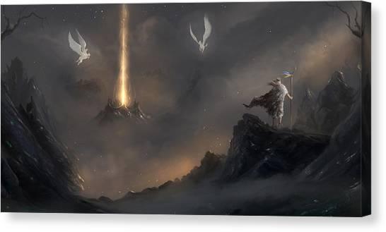 Pegasus Canvas Print - Pegasus by Maye Loeser