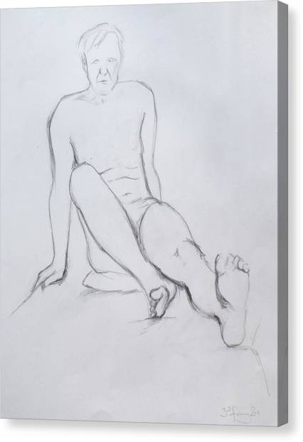 Pencil Sketch 2.2011 Canvas Print