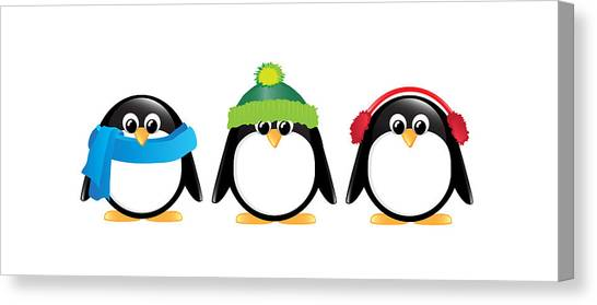 Penguins Canvas Print - Penguins Isolated by Jane Rix