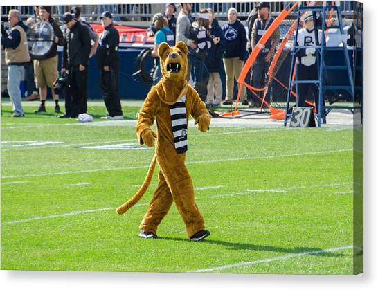 Pennsylvania State University Canvas Print - Penn State Nittany Lion by Michael Guinard