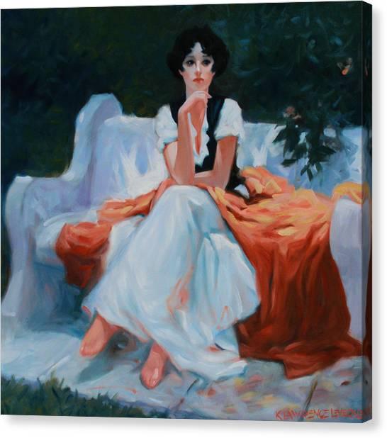 Pensive Pose Canvas Print