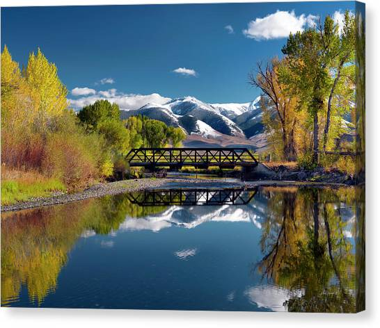 Perfect Autumn Day Canvas Print by Leland D Howard