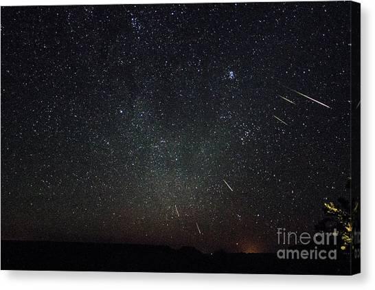 Perseid Meteor Shower Canvas Print
