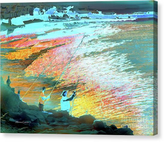 Pesca En Moral Canvas Print by Alfonso Garcia