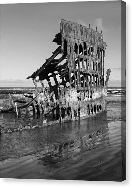 Peter Iredale Canvas Print - Peter Iredale 6288 by Bob Neiman