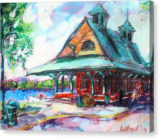 Pewaukee Depot Canvas Print