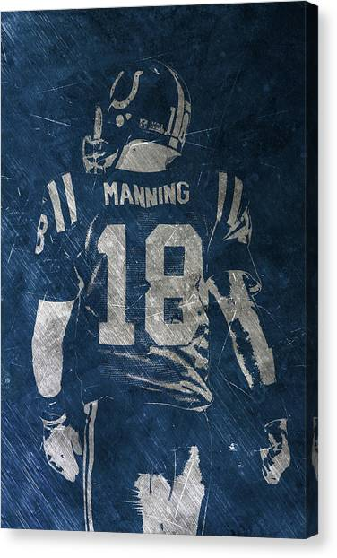 Peyton Manning Canvas Print - Peyton Manning Colts 2 by Joe Hamilton