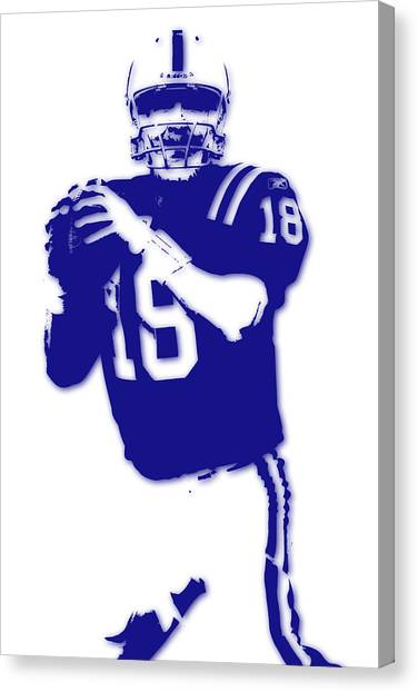 Peyton Manning Canvas Print - Peyton Manning Colts by Joe Hamilton