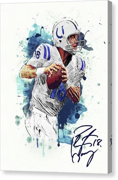 University Of Colorado Canvas Print - Peyton Manning by Zapista