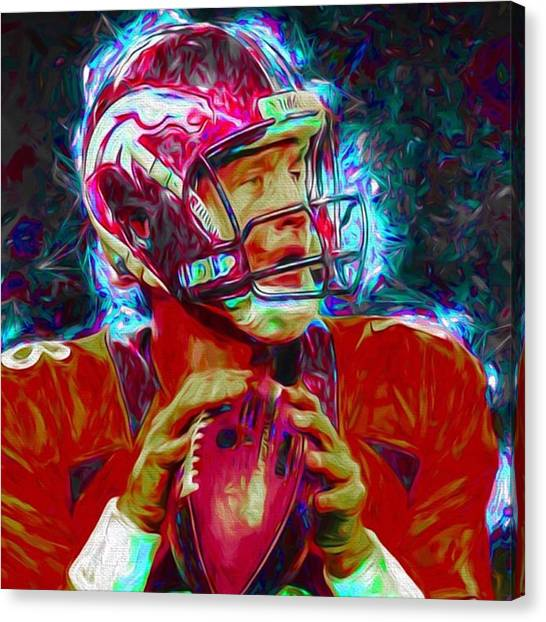 Indianapolis Colts Canvas Print - #peytonmanning #peyton #colts by David Haskett II
