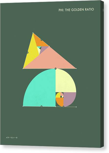 Triangles Canvas Print - Phi - The Golden Ratio by Jazzberry Blue