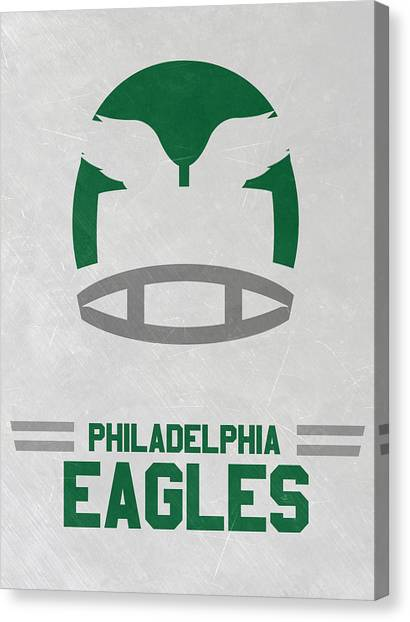 Philadelphia Eagles Canvas Print - Philadelphia Eagles Vintage Art by Joe Hamilton