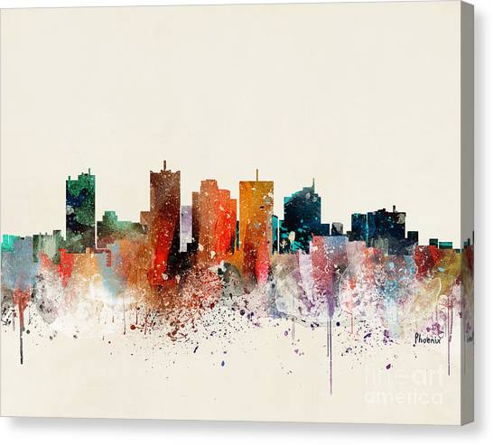 Phoenix Skyline Canvas Print by Bri Buckley