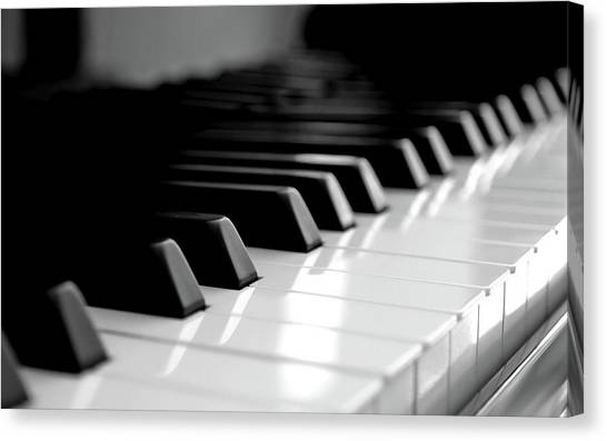 Musical Instruments Canvas Print - Piano by Jackie Russo