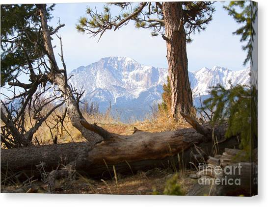 Pikes Peak And Trail To Bald Mountain Canvas Print