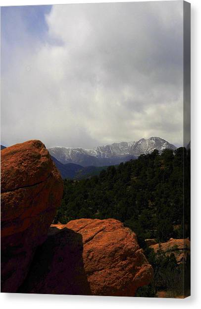 Pikes Peak Canvas Print by Patrick  Short