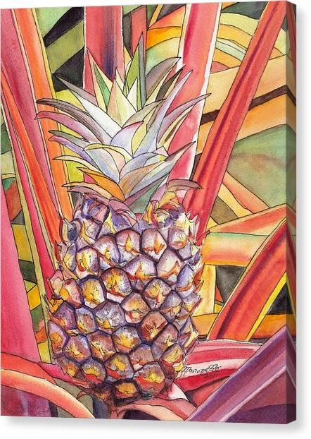 Bromeliad Canvas Print - Pineapple by Marionette Taboniar
