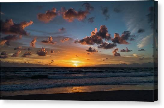Pink Cloud Sunrise Delray Beach Florida Canvas Print