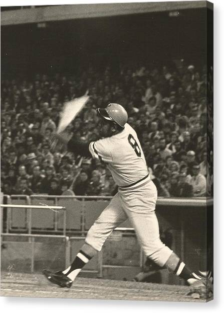 Pittsburgh Pirate Willie Stargell Batting At Dodger Stadium  Canvas Print