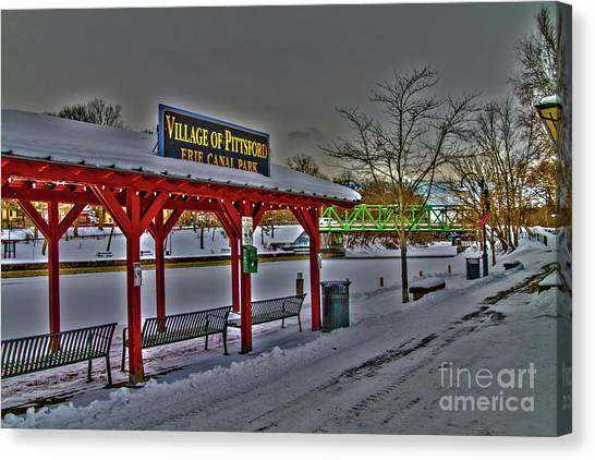 Pittsford Canal Park Canvas Print