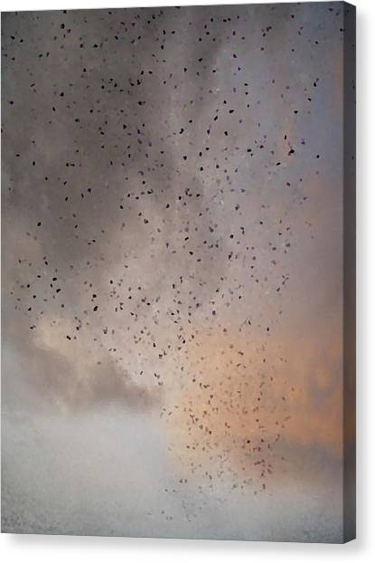 Pixelated Canvas Print - Pixelated Filter Effect Abstract Nature Sky Background by Matthew Gibson