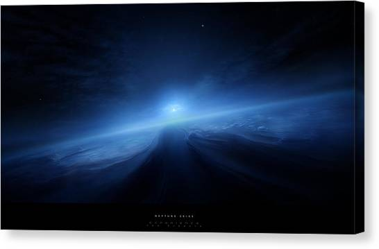 Satellite Canvas Print - Planets by Mariel Mcmeeking