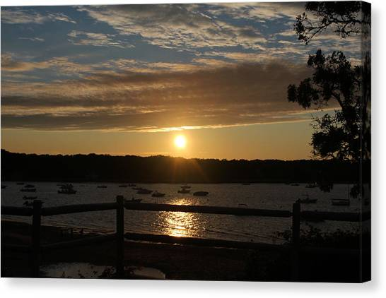 Pleasant Bay Sunset Canvas Print by Amy Coomber Eberhardt