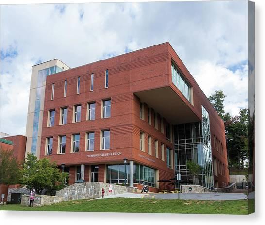 Appalachian State University Asu Canvas Print - Plemmons Student Union At Asu. by Bryan Pollard