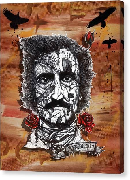 Ballpoint Pens Canvas Print - Poe Toaster by Tai Taeoalii