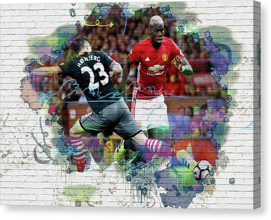 Wayne Rooney Canvas Print - Pogba Street Art by Don Kuing